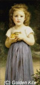 163 Little Girl Holding Apples